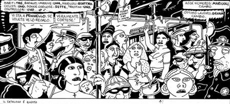 Vignetta di Altan tratta dal libro: L'italia in seconda classe